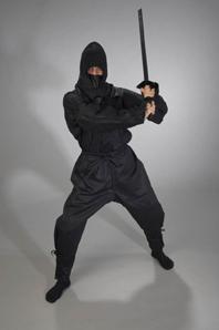 ninja anzug von ju sports schwarz ninjutsu anzug. Black Bedroom Furniture Sets. Home Design Ideas